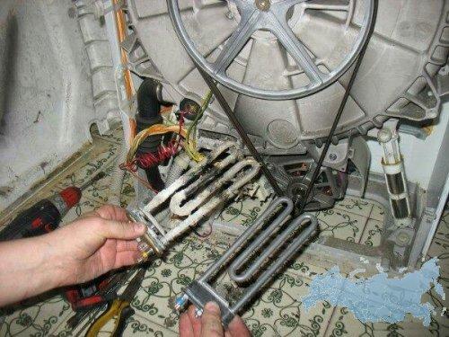 Замена тены в стиральной машине своими руками